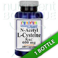 N-Acetyl Cysteine (NAC) 600mg 180caps by Vitamins Because