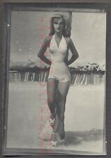 Unusual Vintage Photo Pretty Pin Up Girl in Swimsuit Sketch Art Drawing 670059