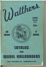 Vintage 1948 Walthers  HO  & O Gauge Railroading Catalog