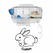 Customised Rabbit Cage Hutch Vinyl Decal Sticker Glass Car Window Indoor Outdoor