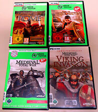 4 PC SPIELE SAMMLUNG GRAND AGES ROME RISE OF ARGONAUTS MEDIEVAL TOTAL WAR VIKING