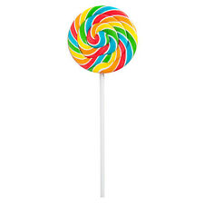 Rainbow Swirl Lollipop Candy Suckers 24 pack