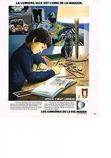 PUBLICITE  1978   MAZDA    l'oeuf lumière OPALIA