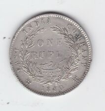 1840 East India Company One Rupee Silver Coin Queen Victoria D-750