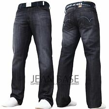 BNWT NEW MENS STRAIGHT LEG REGULAR FIT DARK BLUE DENIM JEANS ALL WAIST & SIZES