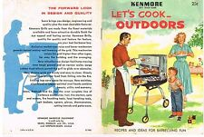Grilling Barbeque Guide Recipe Booklet Kenmore Cook OUTDOORS 1950' Vintage GC