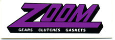 Vtg Hot Rod Sticker Zoom Gears Clutches Gaskets Drag Race Old Stock Speed Shop