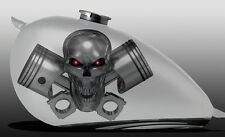 Boat Truck Motorcycle Tank Harley Graphics Decals Stickers Wrap Pistons Skull