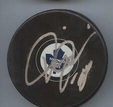 TIE DOMI TORONTO MAPLE LEAFS SIGNED HOCKEY PUCK w/ COA