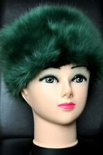 NEW Pemium Faux Fur Hat  MOSCOW GREEN NEWBottle green