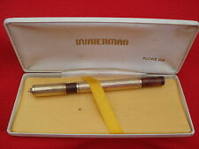 WATERMAN'S IDEAL GOLD OVERLAY SAFETY ON RED RIPPLE FPEN WATERMANS IDEAL GOLD NIB