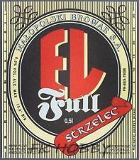 Poland Brewery Jędrzejów Piwo EL Strzelec Beer Label Bieretikett Cerveza je71.3