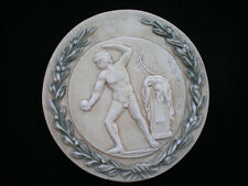 Ancient Greek Olympic Games Athlete with sphere Sculpture Relief wreath artifact
