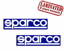 2 SPARCO Racing Car Vinyl Stickers Decal Auto Motorsport Rally GP Sponsor Moto