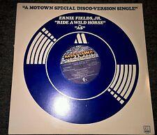 """ERNIE FIELDS JR Ride A Wild Horse 12"""" VINYL 2 Track B/W As (M00009D1)"""