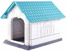 SMALL Dog Kennel Durable Plastic Winter House Comfy Outdoor Weatherproof Tough