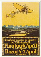 PHOTOGLOB  ZURICH  ADVERTISING  POSTCARD  -  AIRSHOW  IN  1913