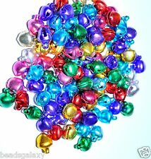 100pcs 8mm multi-colour small aluminium bell charms*