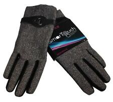 New NWT ISO Isotoner Winter Gloves SmarTouch Texting Touchscreen Black Tweed XL