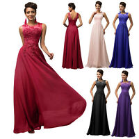 Applique Gown Evening/Formal/Party/Cocktail/Prom Long Dress STOCK UK 20-22-24-26