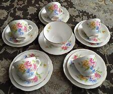 "Royal Stafford ""Sweetpea"" Vintage Gold Gilded English Bone China Tea Set,"