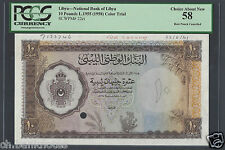 Libya 10 Pounds L1955 (1958) P22s Specimen About Uncirculated