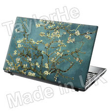 "17"" Laptop Skin Sticker Decal Almond Blossom Blue 313"
