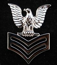 1st CLASS PETTY OFFICER PO1 REGULATION SILVER HAT PIN US NAVY E6 CROW SAILOR