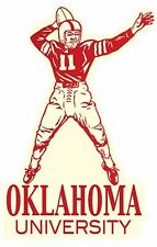 University of Oklahoma SOONERS  Football    Vintage-Looking Travel Decal/Sticker