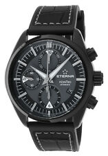 ETERNA KONTIKI CHRONO WATCH, BLACK, REF 1241-43-41-13, RUBBER STRAP, NEVER WORN