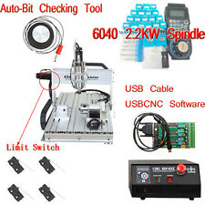 USB 2.2KW Spindle CNC Router 6040 4-Axis Router Engraver Milling Machine 220V