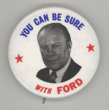 1976 PRESIDENT Gerald Jerry Ford POLITICAL Pinback PIN Button BADGE Republican
