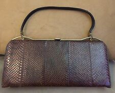 Vintage Leather Snakeskin Bag