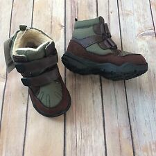 ***NEW*** CARTER'S Toddler Boys Green & Brown Dunes Boots, sz 7 Toddler