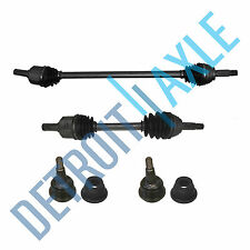4 pc Set - Front Driver and Passenger CV Axle Shaft, 2 Lower Ball Joint w/o ABS