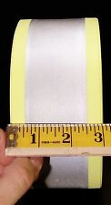 "5 Yards-Heavy Duty Fabric Sew On Reflective Tape 3"" wide w/ 2"" Reflective Stripe"