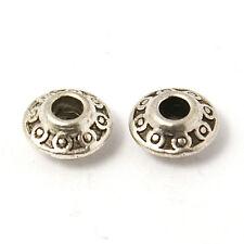 100 Stk. Tibet Silber Spacer Perlen Antik Silber Farbe 6.5x4mm Perle Schmuck Diy