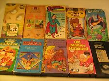 Lot of 10 VHS Cartoons MOTHER HUBBARD Superman FERN GULLY Bullwinkle [Z88g]