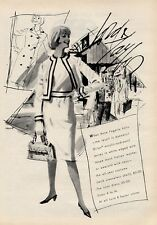 1964 Lord & Taylor Fashion Anne Fogarty Wool Jersey Skirt & Top PRINT AD