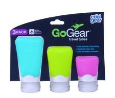 Cool Gear Go-Gear Silicone Travel Containers, Assorted Sizes, 3-Pack, New