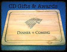 LASER ENGRAVED GAME OF THRONES WINTER LION WOODEN CHOPPING BOARD Season 6