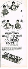 PUBLICITE ADVERTISING   104  1965  MILKY WAY  confiserie mousse au chocolat