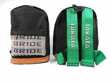 Large JDM Bride Racing Fabric Backpack Detachable Straps Harness Laptop Padded