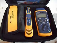 Super Clean Used Fluke Networks CableIQ Advanced IT Kit w/ Leads & Case Works