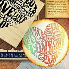 Wooden Rubber LOVE HEART Stamp Diary Scrapbooking Wedding Card Making Craft