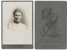 CABINET CARD Photograph Young Lady by Steggles of Midsomer Norton & Radstock