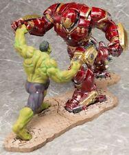 KotoBukiya Avengers Age Of Ultron Hulk & Hulkbuster Iron Man 2 Pc ARTFX+ Statue