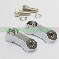 Chrome Mirror Riser Extend Adapter Kit For Yamaha V Star 1300 250 650 950 XVS