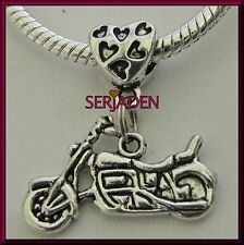 5 Motorcycle Dangle Charm Beads fits European Style Bracelet & Necklaces  S032