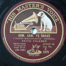 "78rpm 12"" KEITH FALKNER arm arm ye brave / o god have mercy"